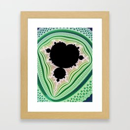 Mandelbrot Lace Framed Art Print