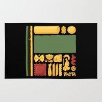 pasta Area & Throw Rugs featuring Pasta Mondrian by Chayground