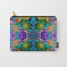Colorful Fractal Juliascope Carry-All Pouch
