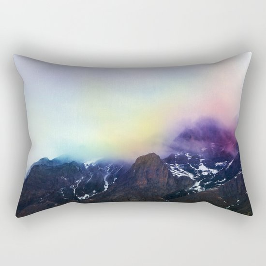 Mountain of Color Fog Rectangular Pillow