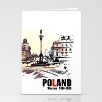 poland Stationery Cards featuring Poland, Warsaw 1890-1900 by viva la revolucion