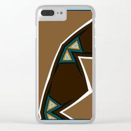 Brown Zags Clear iPhone Case