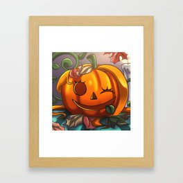 Orange Pumpkin Framed Art Print