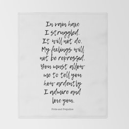 In vain I have struggled. -Love quotes Throw Blanket