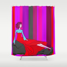i THiNK OF YOU Shower Curtain