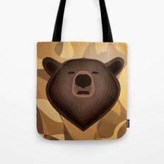 Camouflage gradient bear selfie Tote Bag