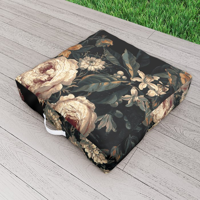 Midnight Garden XIV Outdoor Floor Cushion