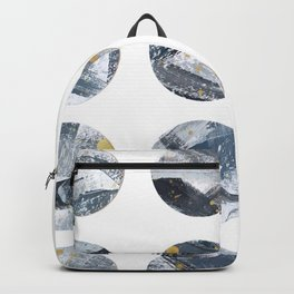 Gray and Gold Abstract Space Dots Backpack