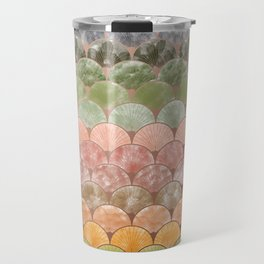 Watercolor art decó pattern Travel Mug