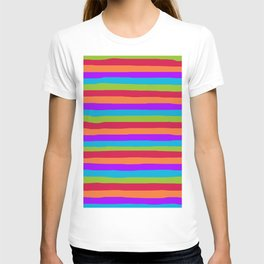 lumpy or bumpy lines abstract and summer colorful - QAB273 T-shirt