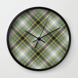 Scottish tartan #36 Wall Clock