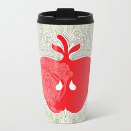 Apple Heart Metal Travel Mug