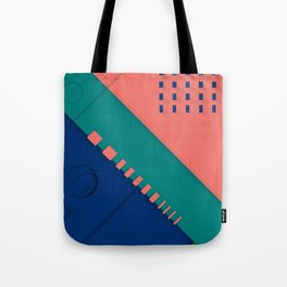 Color material design, paper layers with dynamic halftones Tote Bag