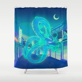 Neon Dragon Shower Curtain
