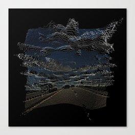 Pixelated Road Canvas Print