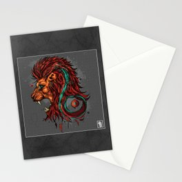 Leo The Lion - Zodiac Sign Stationery Cards