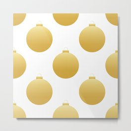 Christmas golden decorations Metal Print