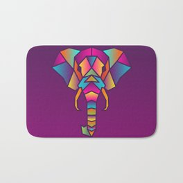 Elephant   Geometric Colorful Low Poly Animal Set Bath Mat