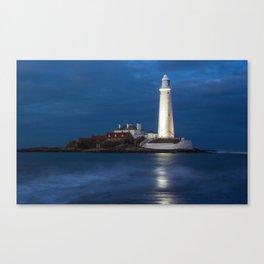 Dusk at St Mary's Lighthouse Canvas Print