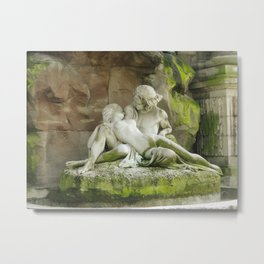 Lovers At Luxembourg Garden  Metal Print