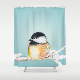 Winter Bird Shower Curtain