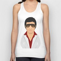 montana Tank Tops featuring Tony Montana by Capitoni