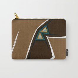 Brown Zags Carry-All Pouch