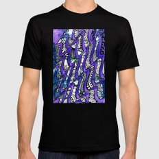 Tangles in the purple waves Black Mens Fitted Tee MEDIUM