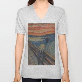 Edvard Munch - The Scream Unisex V-Neck