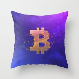 BITCOIN Galaxy Throw Pillow