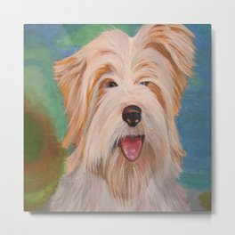 Terrier Portrait Metal Print