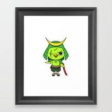 Samurai Bird Framed Art Print