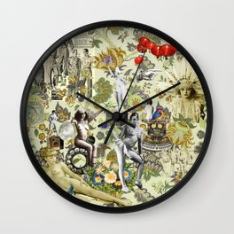 The Muse is Here Wall Clock