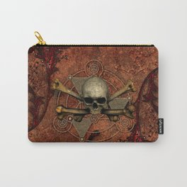 Awesome skull with bones Carry-All Pouch