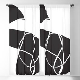 abstract black and white no.1 Blackout Curtain