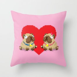 We're So Pug Together Throw Pillow