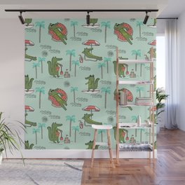 Alligator vacation tropical gator life palm beach socal florida gators Wall Mural