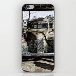 Vintage pickup truck iPhone Skin
