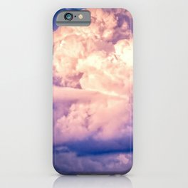 Stormy Cumulus Clouds Illuminated By The Setting Sun iPhone Case