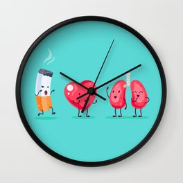 Cigarette first meeting Wall Clock