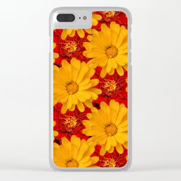 A Medley of Red and Yellow Marigolds Clear iPhone Case