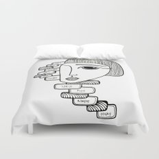 YES NO MAYBE Duvet Cover