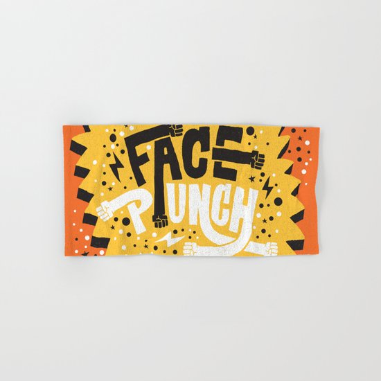 FACE PUNCH Hand & Bath Towel