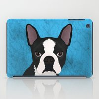 boston terrier iPad Cases featuring Boston terrier by Nir P