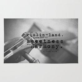 Sherlock Holmes Violin Rug