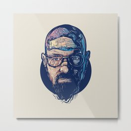 Walter White Breaking Bad Metal Print