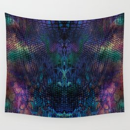 Violet snake skin pattern Wall Tapestry