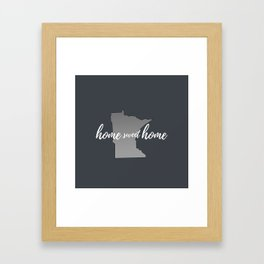 Minnesota Home Sweet Home Grey Framed Art Print