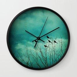 Like Birds on Trees Wall Clock