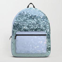Light Seafoam Light Blue Glitter #1 #shiny #decor #art #society6 Backpack